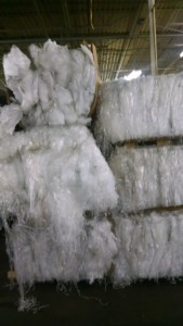 Ldpe clean & white trim bales