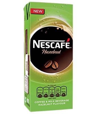 Exotic hazelnut flavour nescafe cold coffee