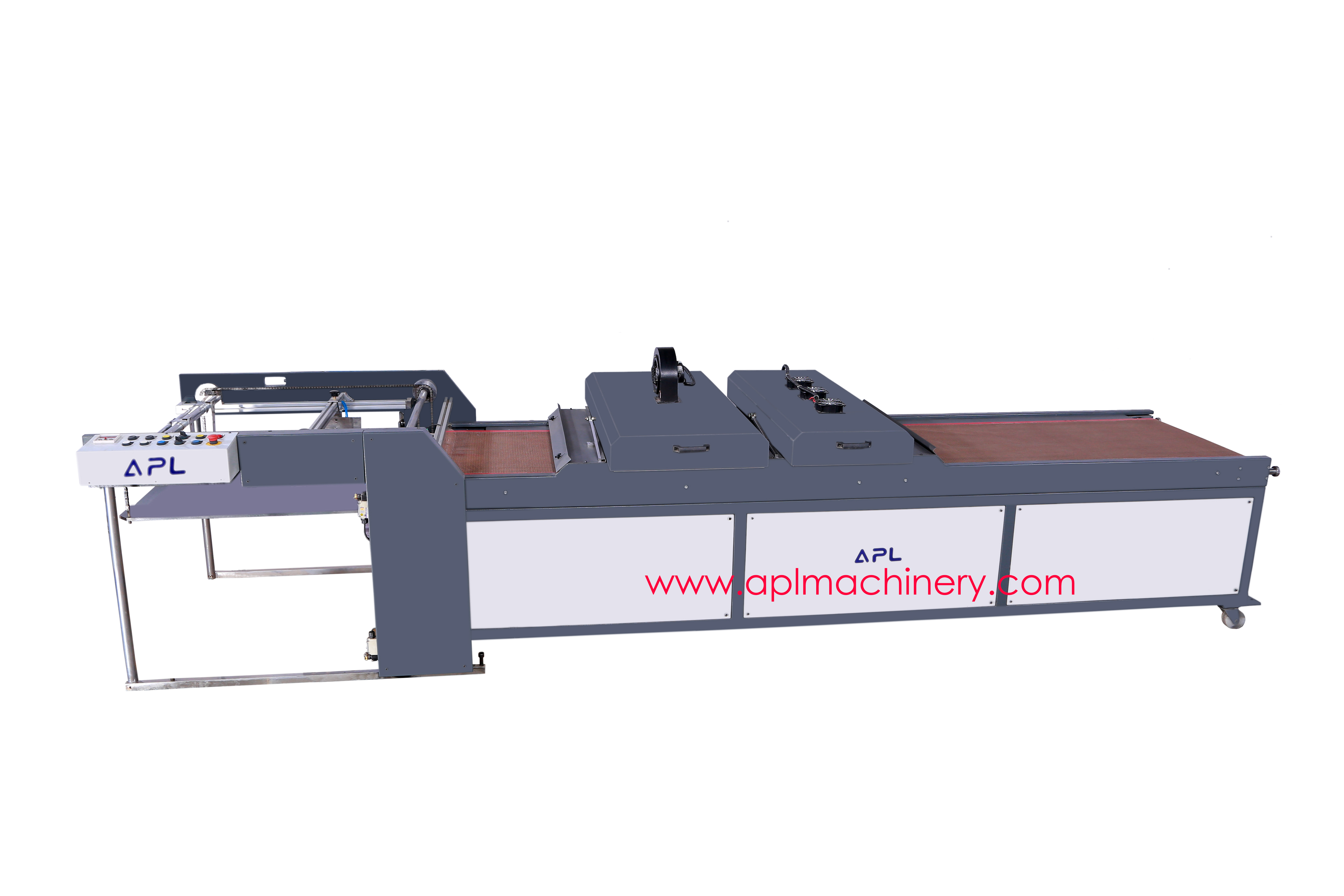 Uv-coating and curing machine
