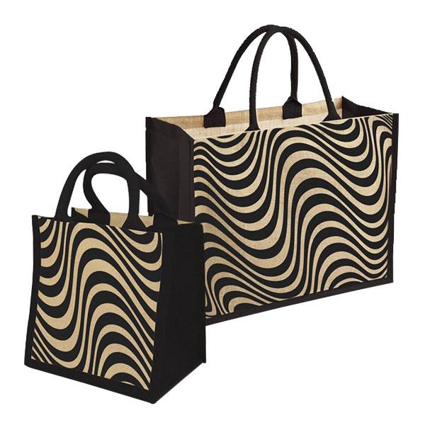Jute stripes bags