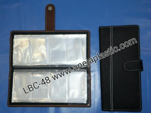 Faux Leather Business Card Holder