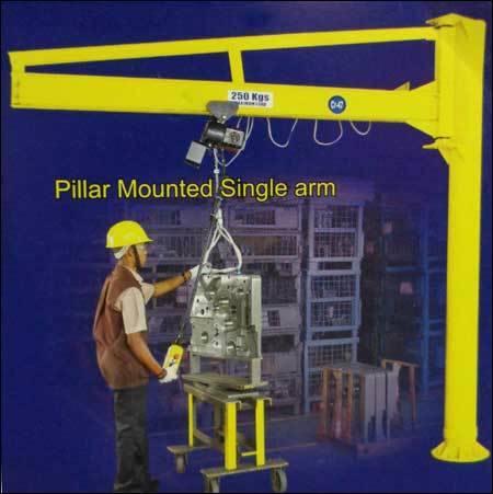 Pillar mounted single arm