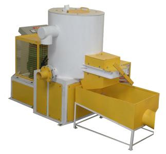 Plastic & paper (pulp) separator machine