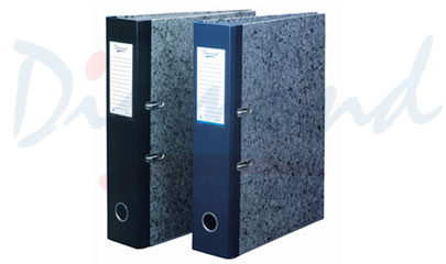 Lever arch file (cover with paper)
