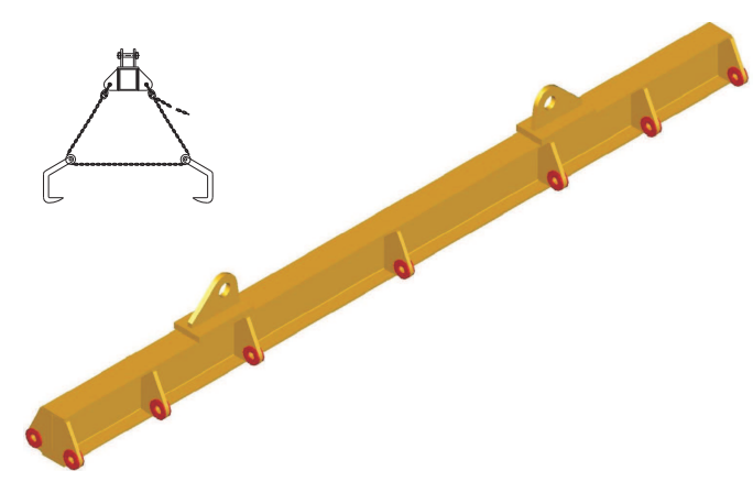 Plate lifting spreader with clamps