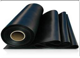 Black plain rubber sheets