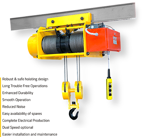 Classic electric wire rope hoist
